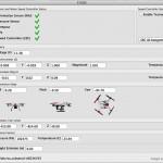 Blade 350 QX3 sensor information screen
