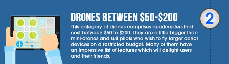 drones between $50-$200